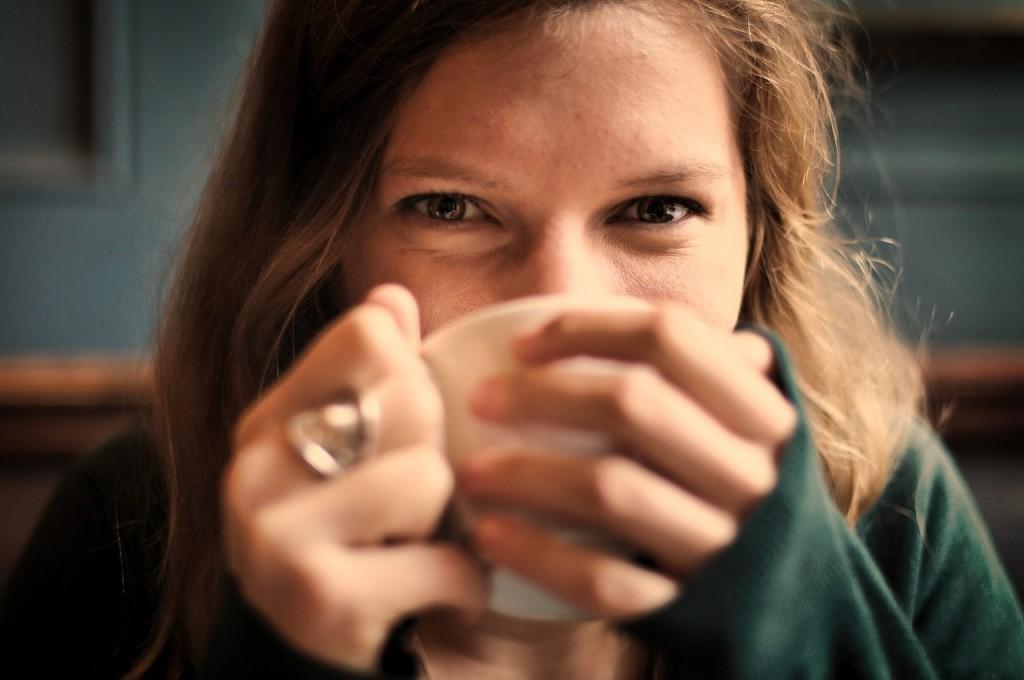 Disfrutando del café