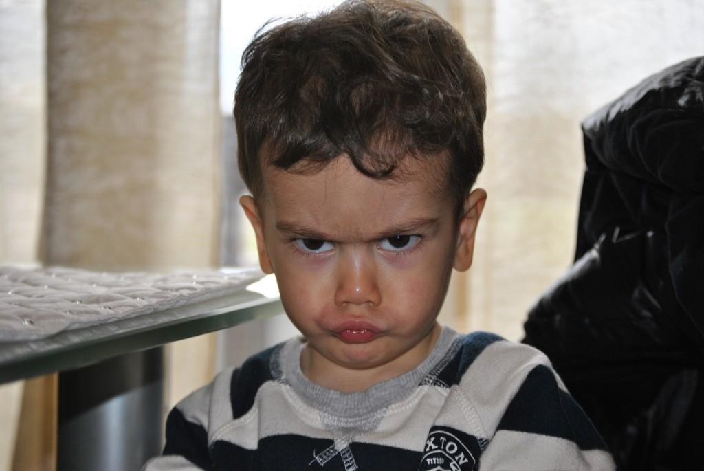 Niño enfadado